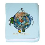 Hiker's Soul Compass Earth baby blanket