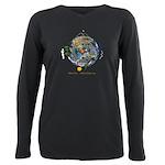 Hiker's Soul Compass Earth Plus Size Long Sleeve T
