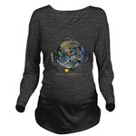 Hiker's Soul Compass Earth Long Sleeve Maternity T