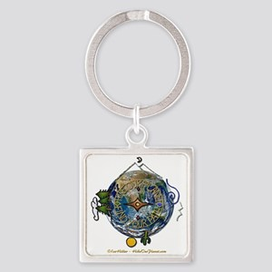 Hiker's Soul Compass Earth Keychains