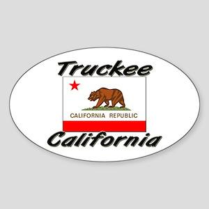 Truckee California Oval Sticker