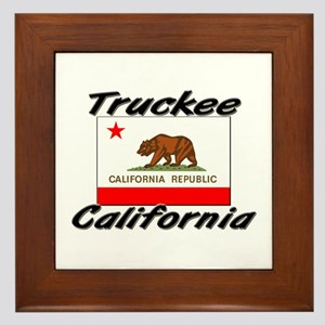 Truckee California Framed Tile