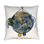 Hiker's Soul Compass Earth Everyday Pillow
