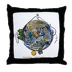 Hiker's Soul Compass Earth Throw Pillow