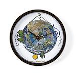 Hiker's Soul Compass Earth Wall Clock