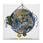 Hiker's Soul Compass Earth Tile Coaster