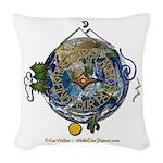 Hiker's Soul Compass Earth Woven Throw Pillow