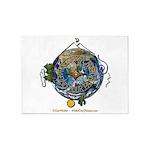 Hiker's Soul Compass Earth 5'x7'Area Rug