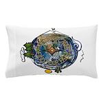 Hiker's Soul Compass Earth Pillow Case