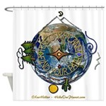 Hiker's Soul Compass Earth Shower Curtain