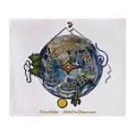 Hiker's Soul Compass Earth Throw Blanket