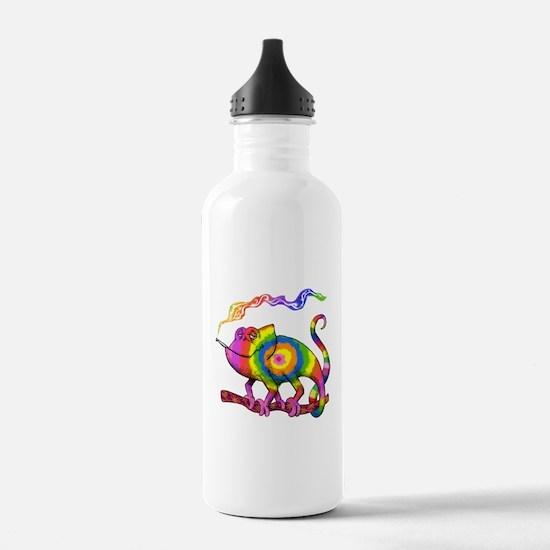 Smoking' Chameleon Water Bottle