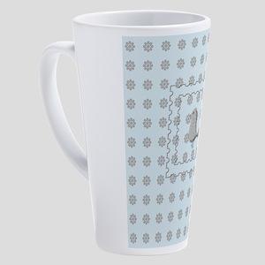 Custom Holiday Emoji 17 oz Latte Mug