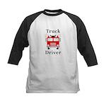 Truck Driver Kids Baseball Jersey