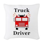 Truck Driver Woven Throw Pillow