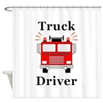 Truck Driver Shower Curtain
