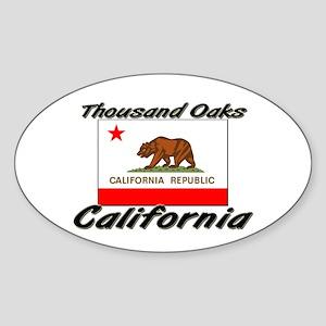 Thousand Oaks California Oval Sticker