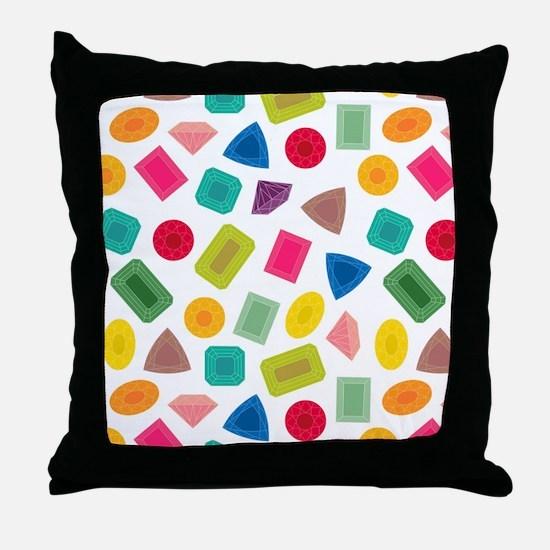 Gem Pattern Throw Pillow