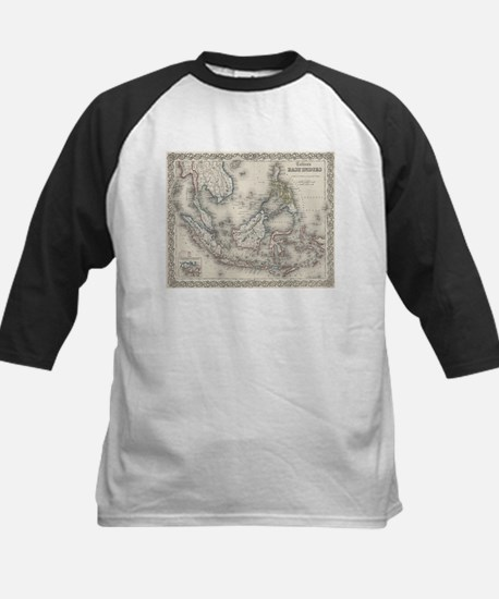 Vintage Map of Indonesia and The P Baseball Jersey