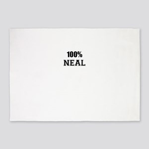 100% NEAL 5'x7'Area Rug