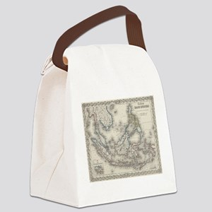 Vintage Map of Indonesia and The Canvas Lunch Bag