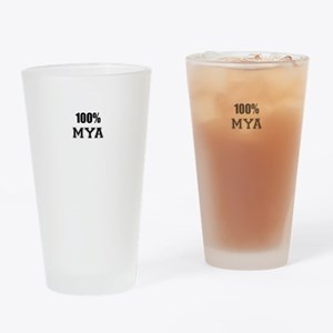 100% MYA Drinking Glass