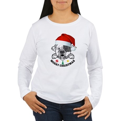 american bulldog christmas Long Sleeve T-Shirt