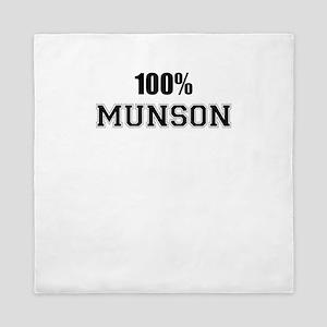 100% MUNSON Queen Duvet