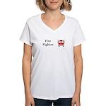 Fire Fighter Women's V-Neck T-Shirt