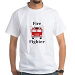 Fire Fighter White T-Shirt