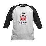 Fire Fighter Kids Baseball Jersey
