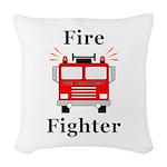 Fire Fighter Woven Throw Pillow