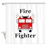 Fire Fighter Shower Curtain