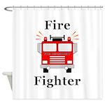 Fire Fighter Shower Curtain
