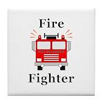 Fire Fighter Tile Coaster