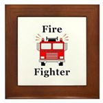 Fire Fighter Framed Tile