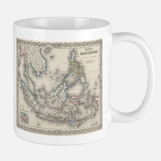 Vintage Map of Indonesia and The Philippines Mugs