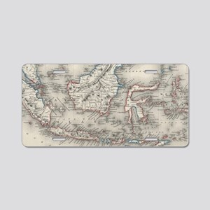 Vintage Map of Indonesia an Aluminum License Plate