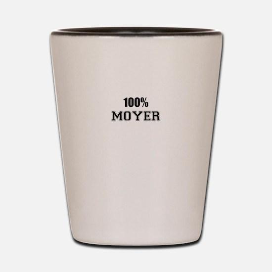 100% MOYER Shot Glass