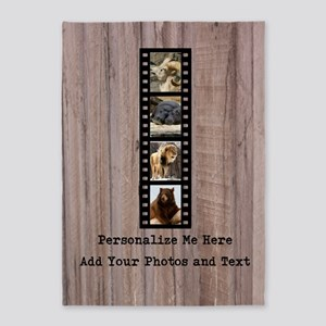 Personalized Zoo Animals Film Strip 5'x7'Area Rug