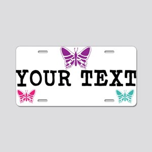 Butterfly Personalized Aluminum License Plate