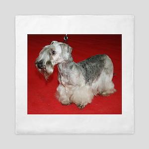cesky terrier full Queen Duvet