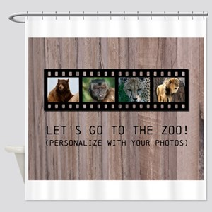 Customizable Filmstrip Photo Templa Shower Curtain