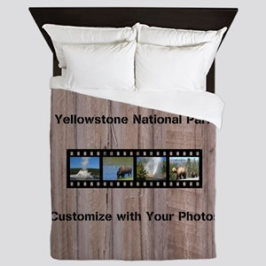 Customizable Filmstrip Photo Template Queen Duvet