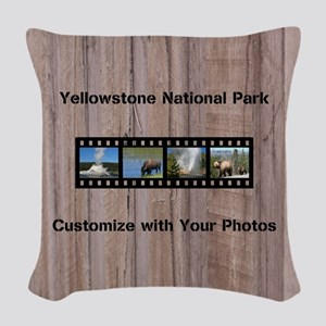 Customizable Filmstrip Photo T Woven Throw Pillow