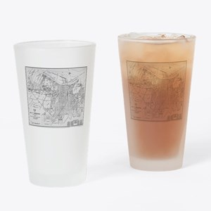 Vintage Map of Savannah Georgia (19 Drinking Glass