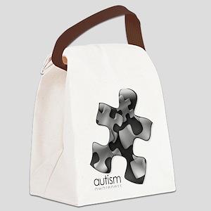 puzzle-v2-black Canvas Lunch Bag