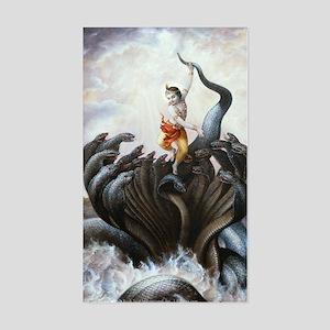 Kaliya-Krishna Sticker (rectangle)