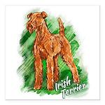 Irish Terrier Square Car Magnet 3