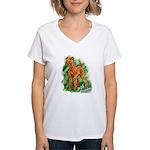 Irish Terrier Women's V-Neck T-Shirt